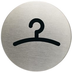 Infobord pictogram Durable 4914 garderobe rond 83Mm