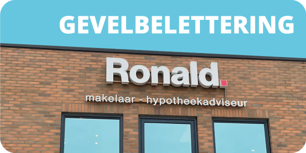 signing pagina - gevelbelettering - rij drie
