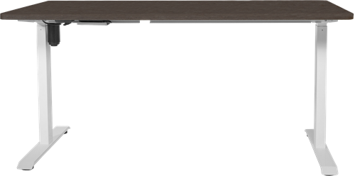 Zit sta verstelbaar bureau Easyo  - Bruin - 160 x 80 cm